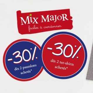 Les Mix Major à -30% chez Sergent Major