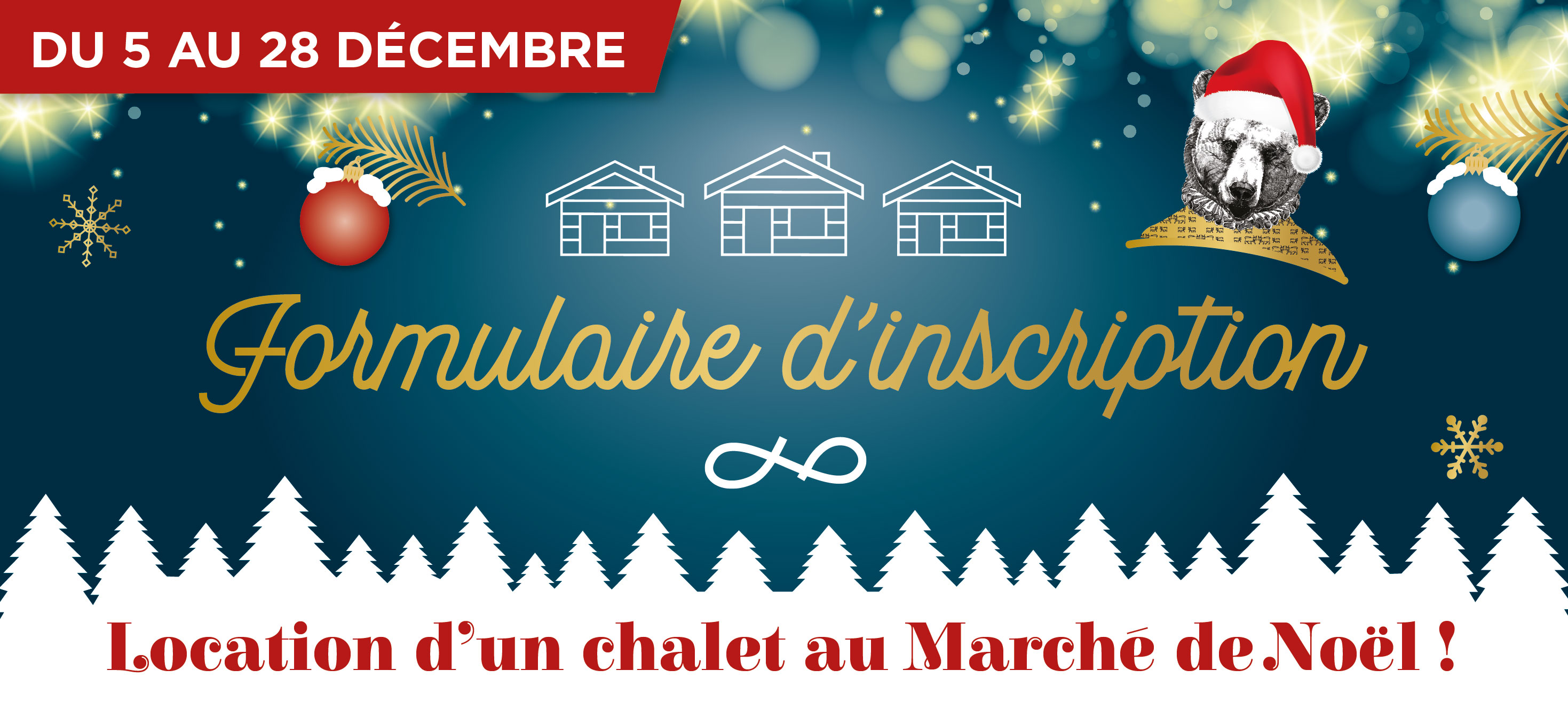 Inscription Location Marché de Noël Quartier Libre Lescar